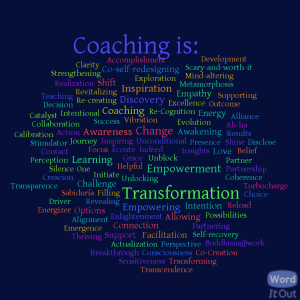 Coaching in One Word by LinkedIn International Coach Federation group members